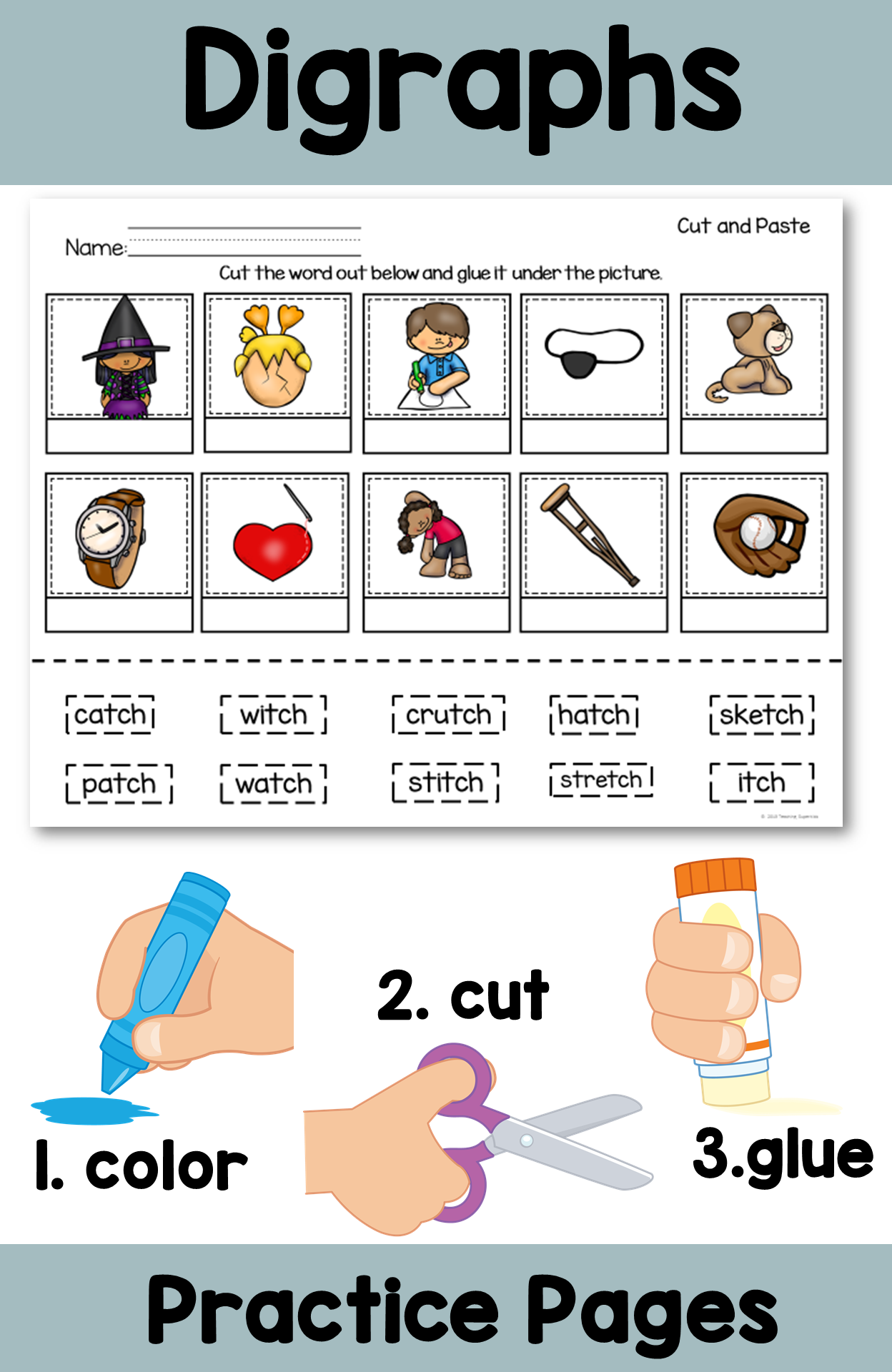 Digraphs Tch Printable And Activities With Images