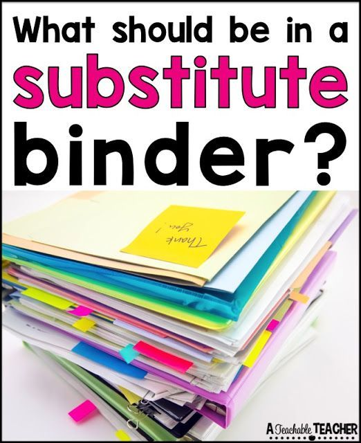 This Substitute Binder Is So Organized! So Helpful When