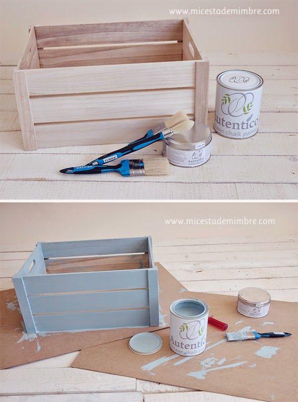 Taller Chalk Paint Y Diy Caja De Madera Cestas De Mimbre Cajas De Madera Cajas