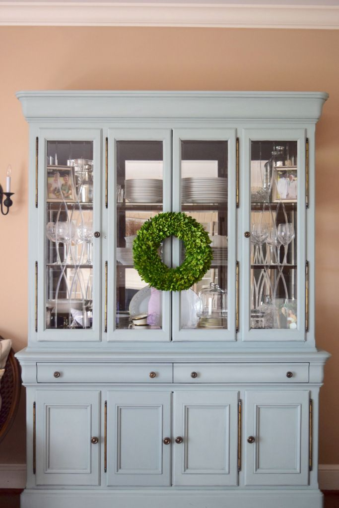 annie sloan chalk painted hutch for the dining room with duck egg rh pinterest com