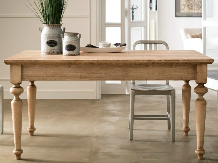 mesa de madera muy bonita para el comedor moderno Casa Pinterest