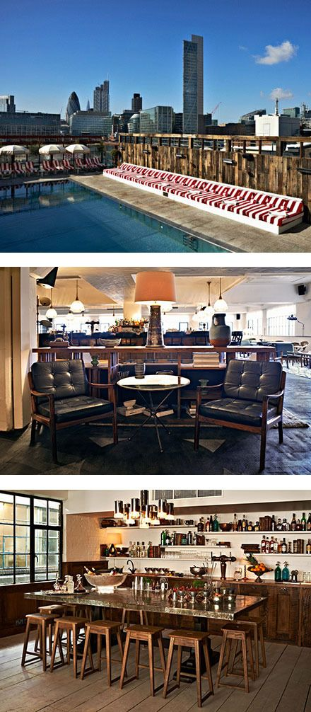 Shoreditch House: ~For Working, Meeting, Relaxing. A Vintage Hotel In London