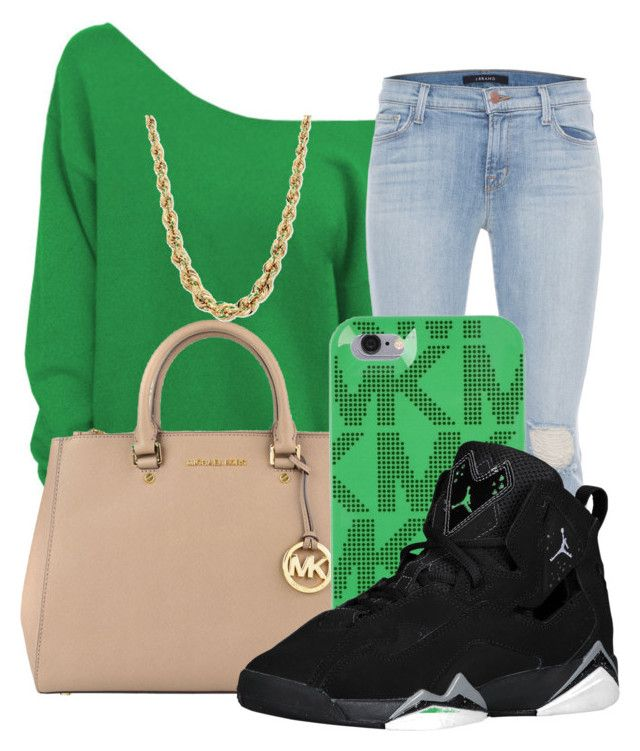 """""""think green!"""" by royaldopeness ❤ liked on Polyvore featuring J Brand, MICHAEL Michael Kors and Michael Kors"""
