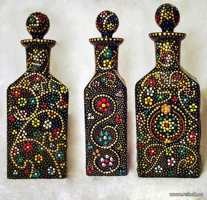 botellas de vidrio decoradas - Buscar con Google Art Pinterest