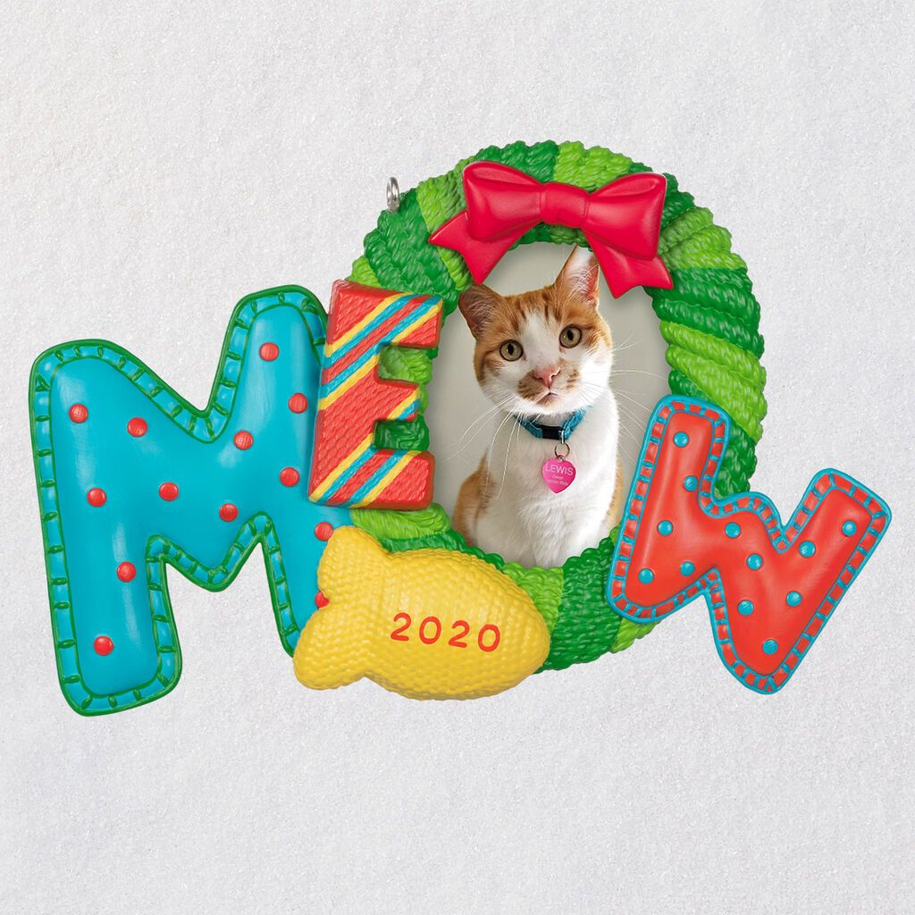 Keepsake Christmas Ornament 2020 Year Dated, Kitty Cat Picture Frame, Photo Frame Meowy Christmas Cat 2020 Photo Frame Ornament in 2020   Photo