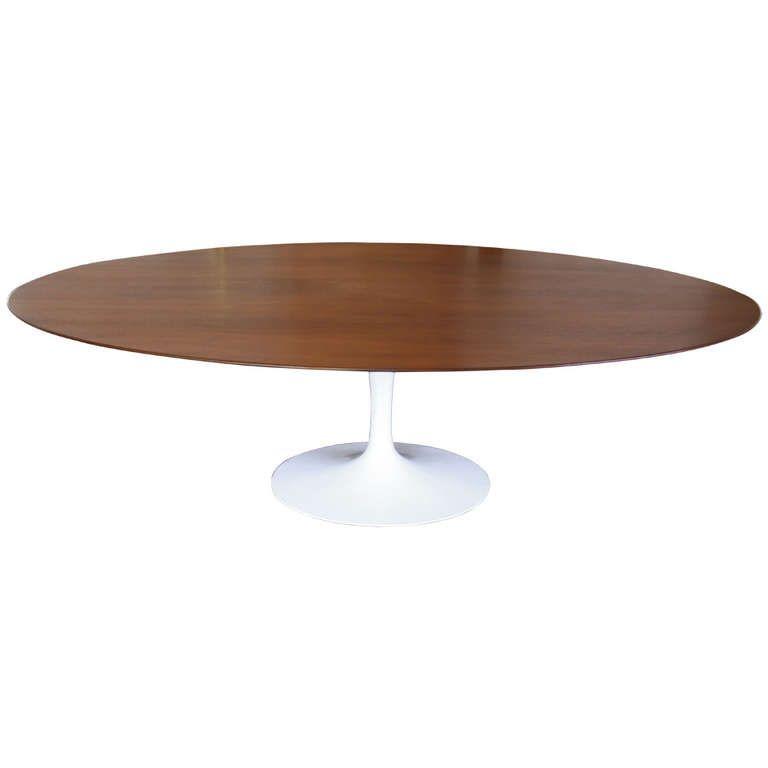 eero saarinen for knoll 8ft walnut dining table nook walnut rh pinterest com