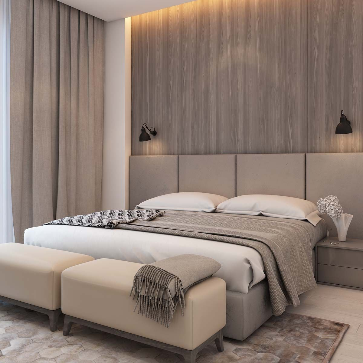 simple bedroom design with wooden Simple Modern Apartment with