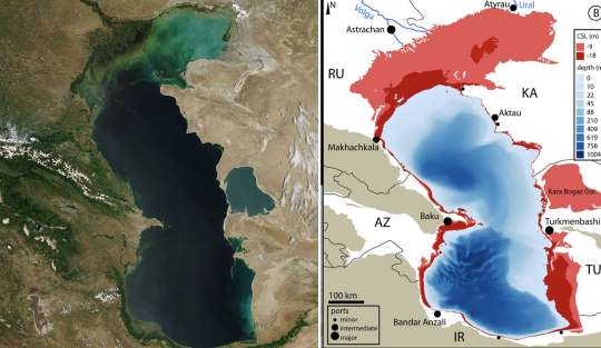 Declining Sea Levels In The Caspian Sea Will Lead To Genuine Ecocide Scientists Warn Provided Effects Of Global Warming Climate Change The Weather Channel