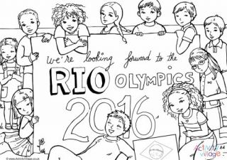 Looking Forward to the Rio Olympics 2016 Colouring Page