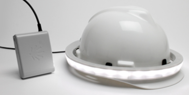 Safety Lighting Halo Light From Illumagear Hard Hat Accessories Halo Construction Site Safety