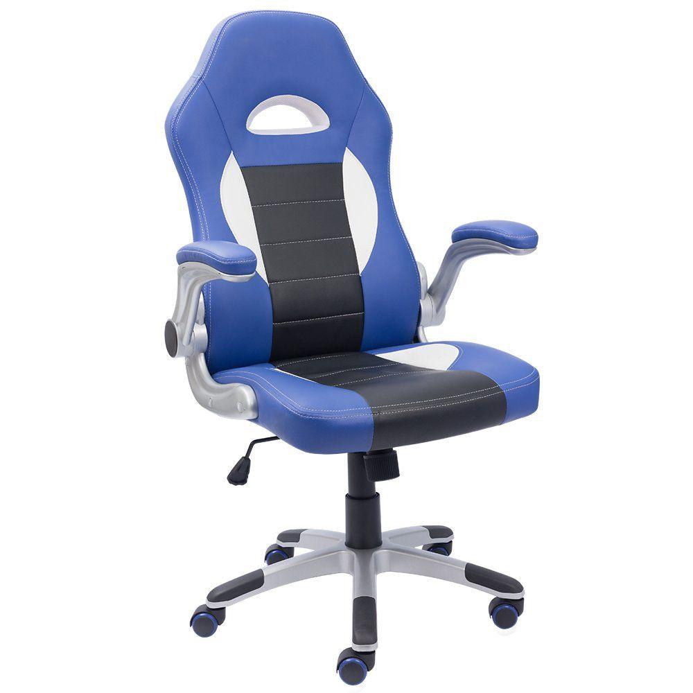 devoko office chair pu leather racing style bucket seat chair, 360