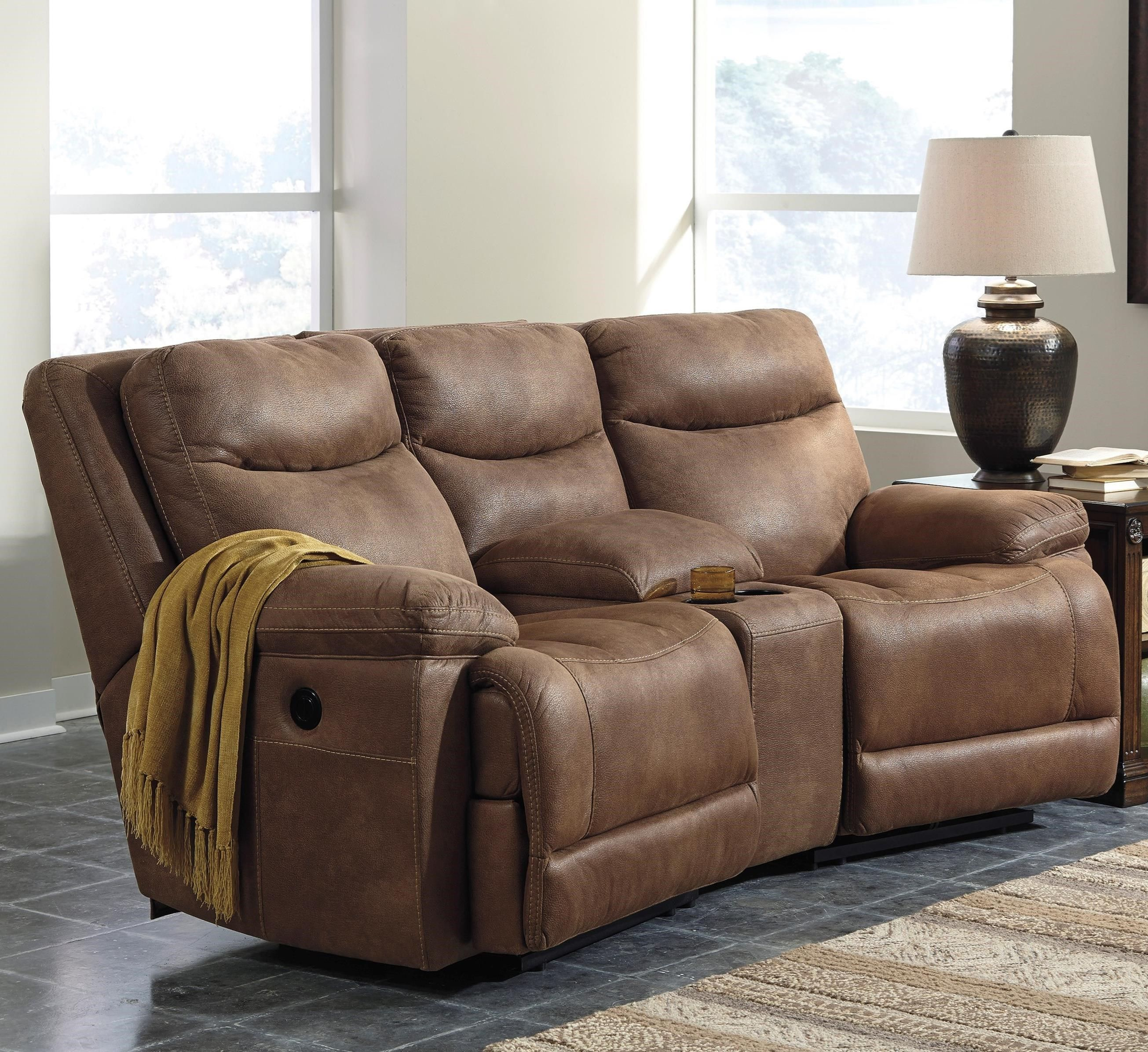 Ashley Furniture Missoula: Valto Power Reclining Sofa With Angled Console By