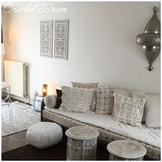 Beautiful Salon Oriental Moderne Blanc Contemporary - Amazing House ...