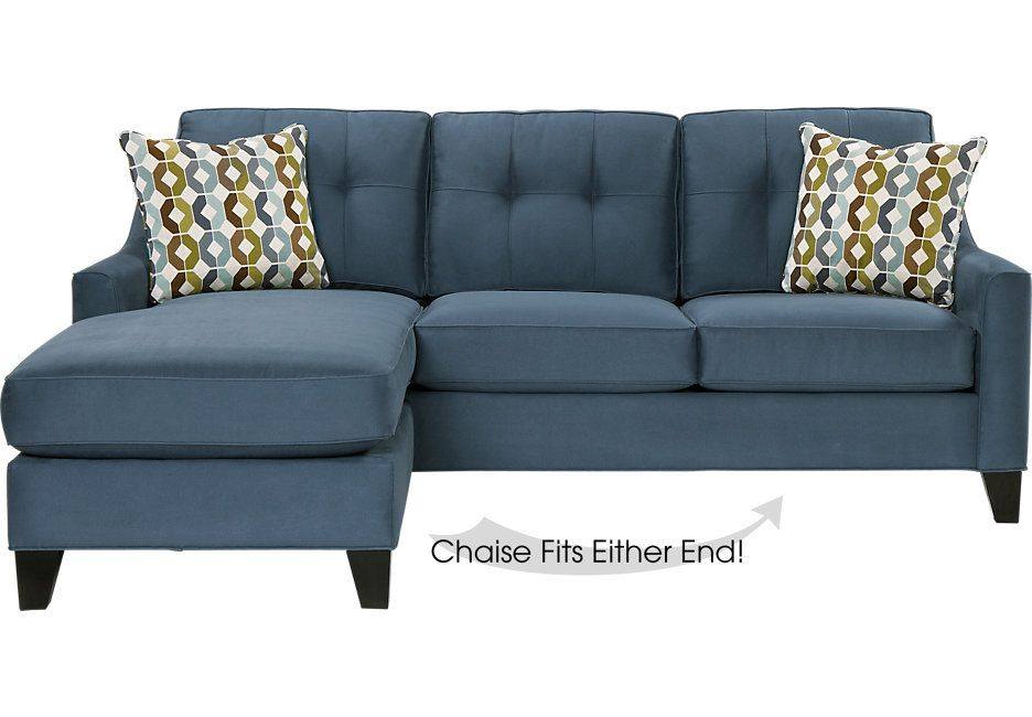 cindy crawford home madison place indigo 2 pc sectional home rh pinterest com