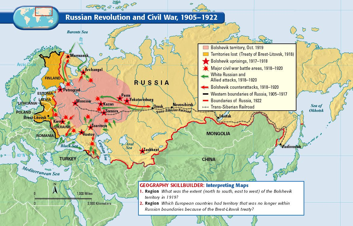 Russian Revolution and Civil War, 1905-1922 | History: World ... on find a country on a map, north africa map, russia in asia, russia and byzantine empire map, europe map, nato bases map, russia map with cities and rivers, russia political map, russia and philippines map, russia and norway map, tajikistan on asia map, map of russia map, just asia map, countries border china map, russia and former soviet union map, russia and switzerland map, volgograd russia map, russia and france map, central america map, russia and caucasus map,
