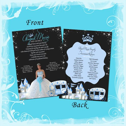 17 Best images about Princess Quinceanera Invitations – Invitation Cards for Quinceanera