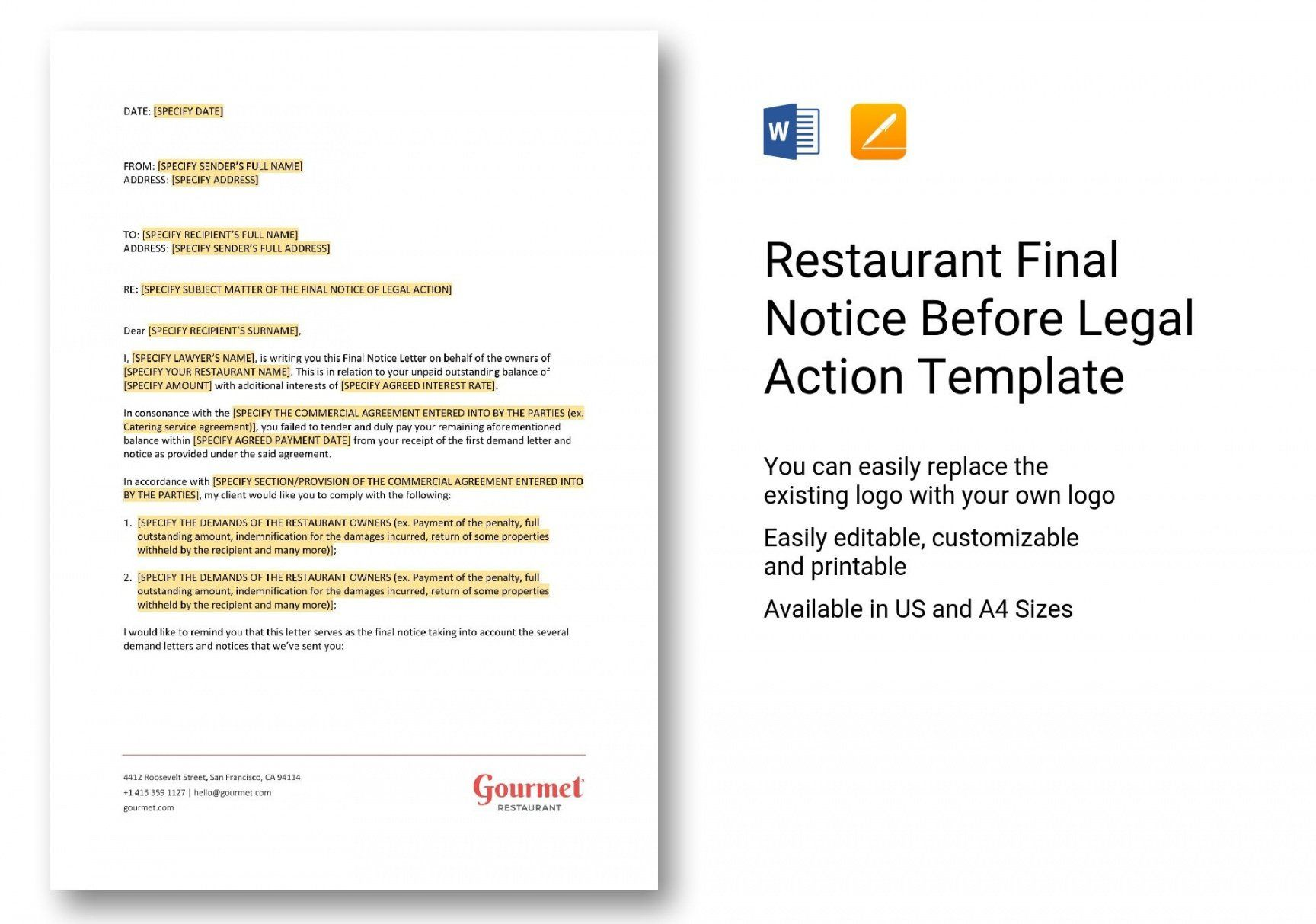 Explore Our Printable Legal Notice Template Templates Being A Landlord Legal Notice