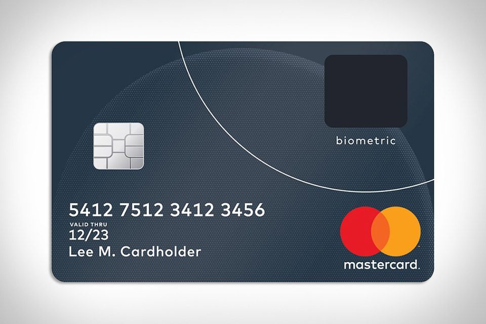 Mastercard Biometric Credit Card Credit Card Design Debit Card