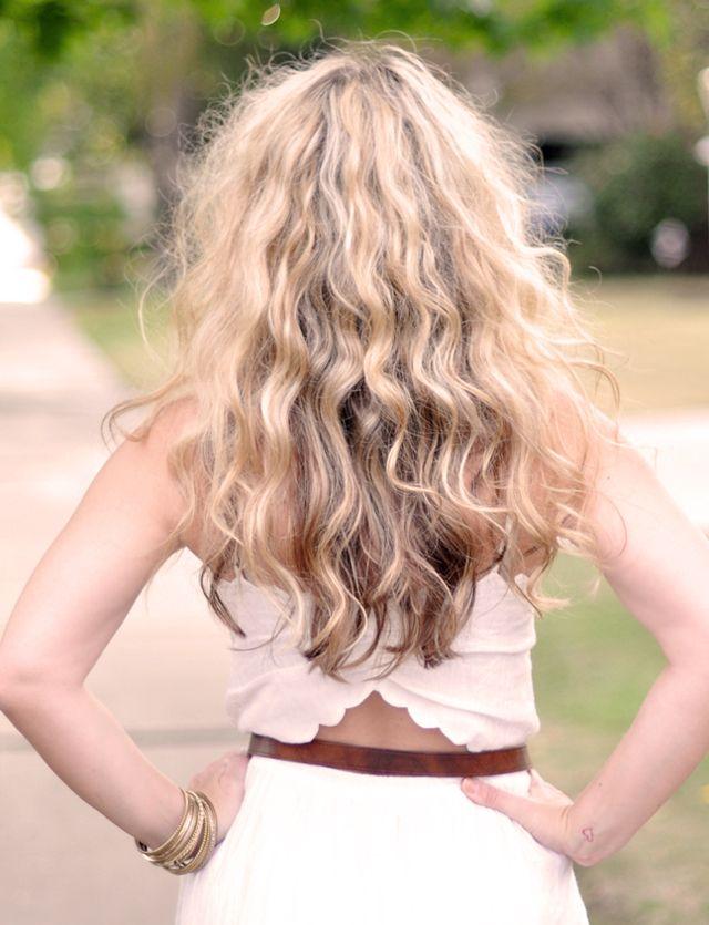 no heat, big curls, easy tutorial