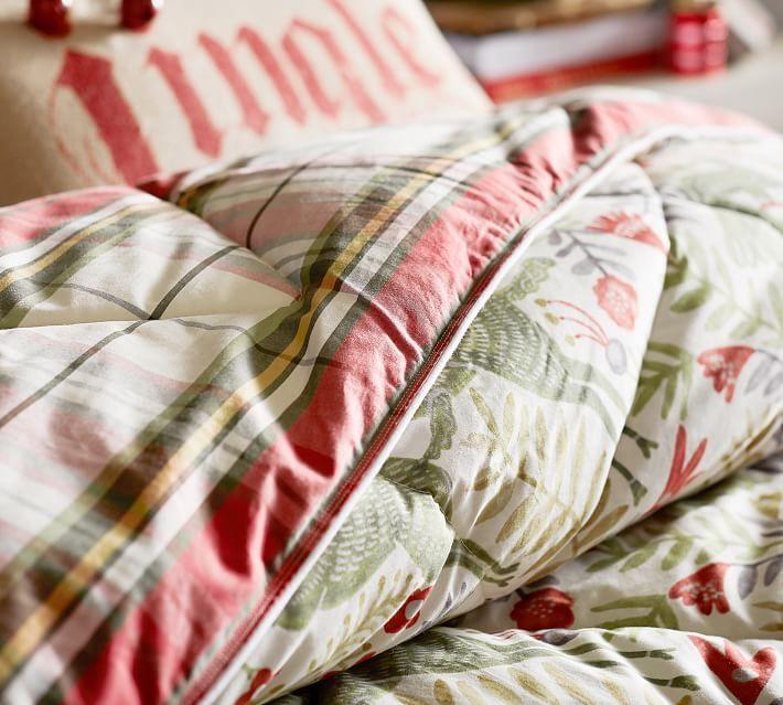 Llew Deer Reversible Comforter Amp Sham Plaid Comforter