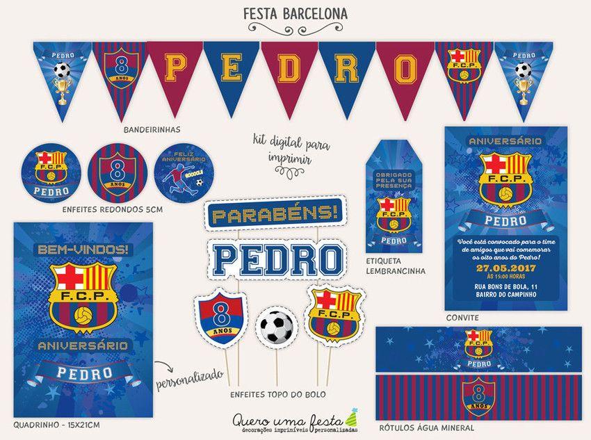 Festa Barcelona Kit Para Imprimir Festa Futebol Em 2019