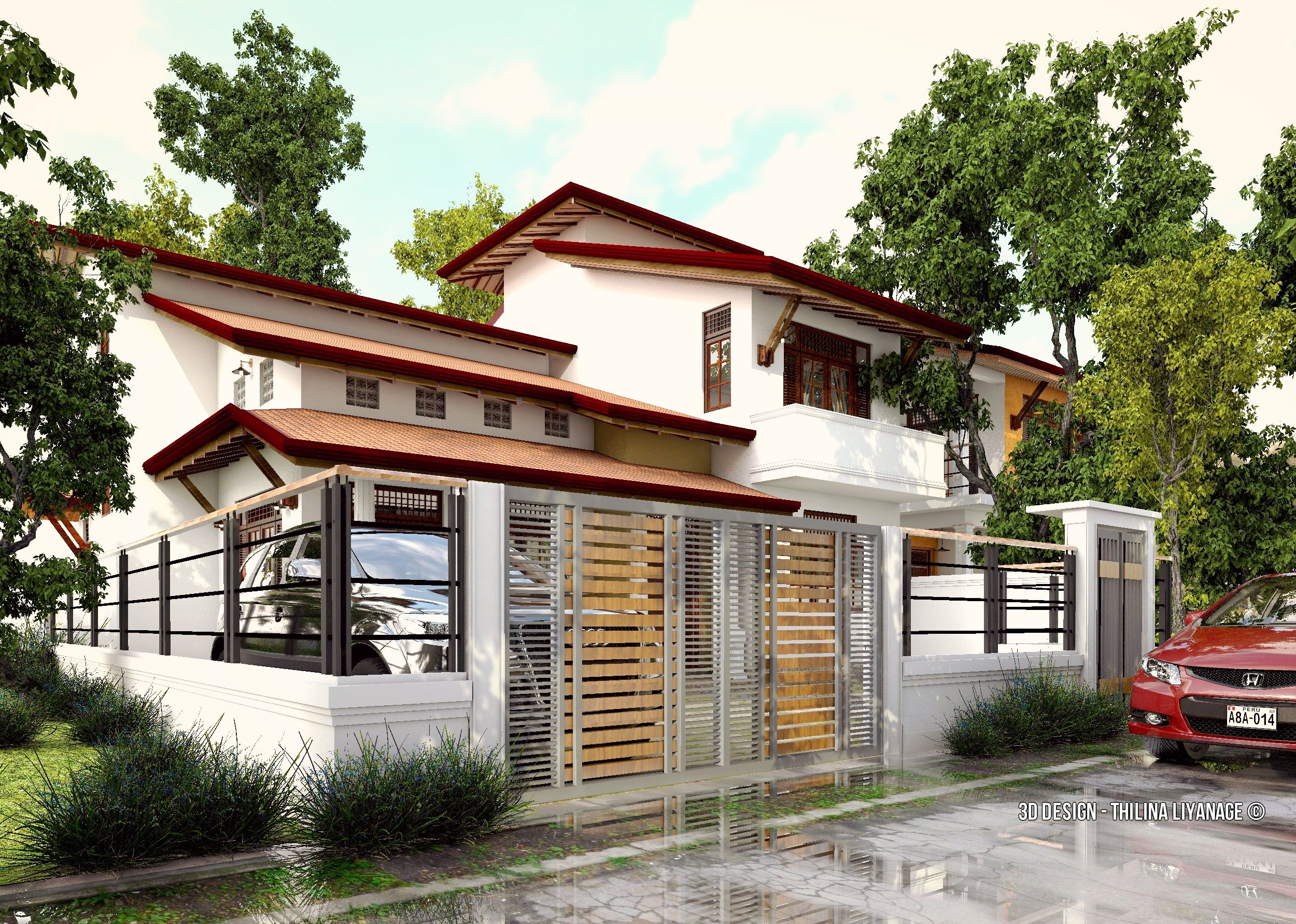 house exterior at kottawa sri lanka 3d scene made with sketchup rh pinterest com