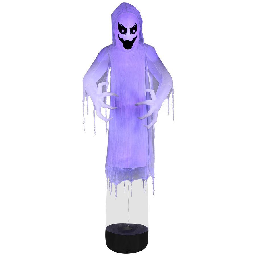 Holiday Living 12 Ft X 4 36 Ft Lighted Reaper Halloween Inflatable Lowes Com Halloween Inflatables Ghost Decoration Spooky Decor