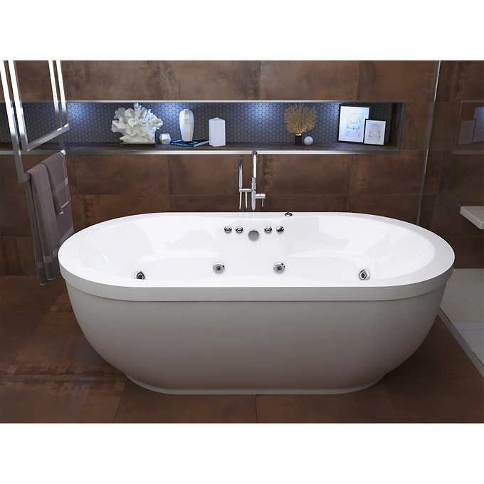 Access Embrace 71 Freestanding Whirlpool Bathtub Jacuzzi Bathtub Bathtub Remodel Jetted Bath Tubs