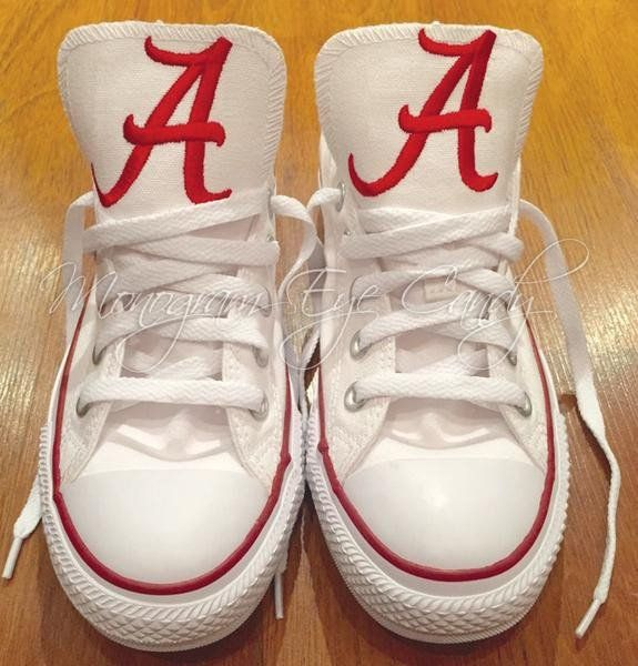 28b1900f3042 Customized Converse Sneakers- Alabama Edition