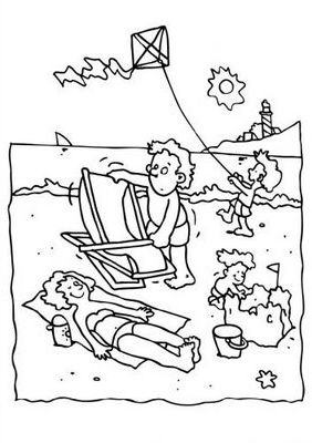 Beach Coloring Pages Perfect For Little Kids On Your Way To