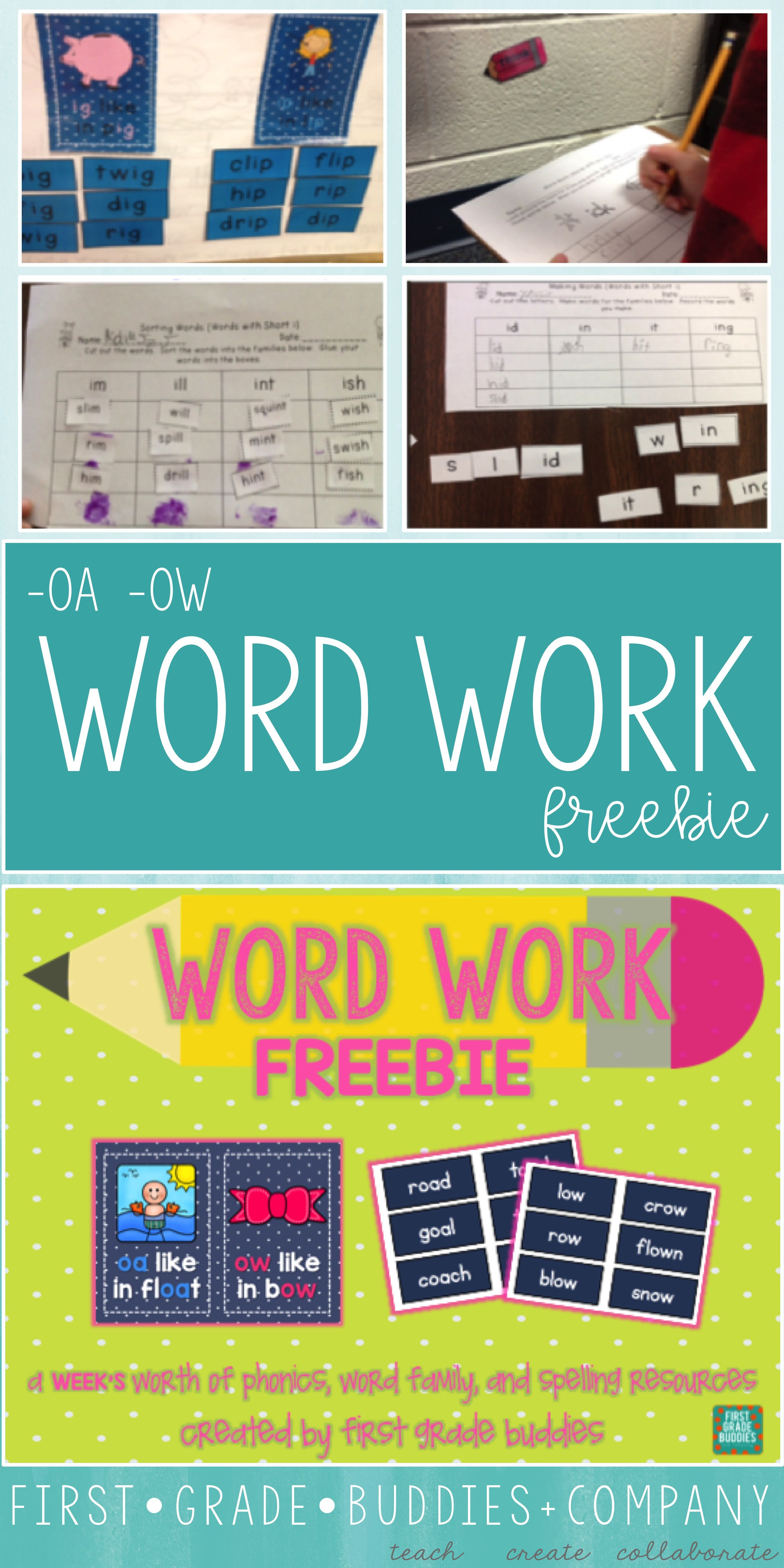 Oa And Ow Word Work