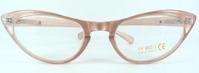 50's Retro Cat Eye Gafas Rosa Perla « Peggy » Gafas de lectura, claro O reglaze