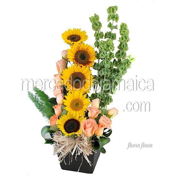 Arreglo Girasoles Festival Envia Flores Arreglos Florales
