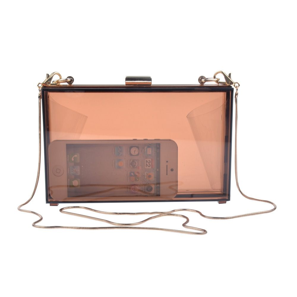 a0299e5cdbe2d Women Transparent   Lace Acrylic Perspex Clutch Clear Purse Evening Bag  Handbag