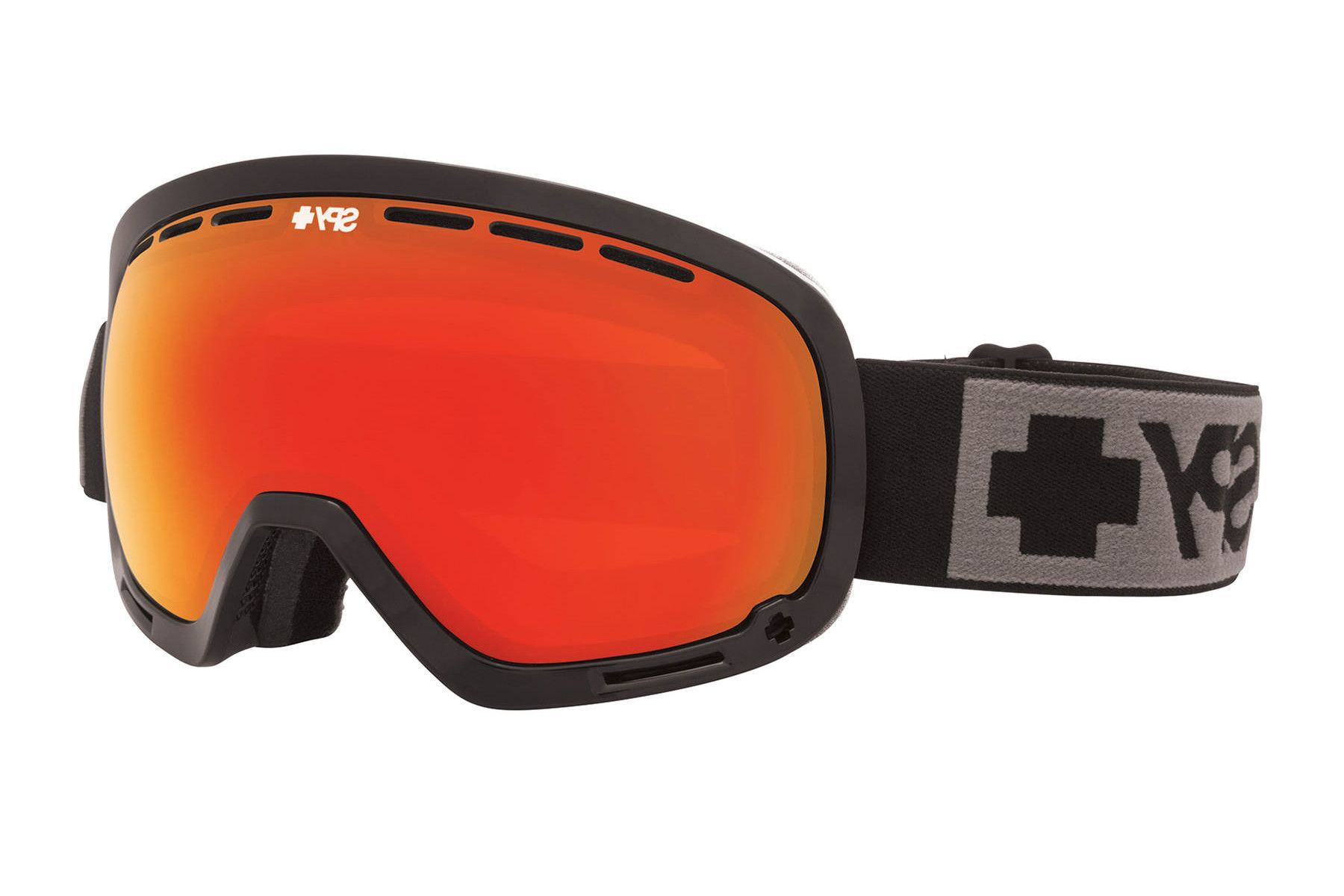 Spy - Marshall Black Goggles, Bronze W/ Red Spectra (+Blue Contact) Lenses