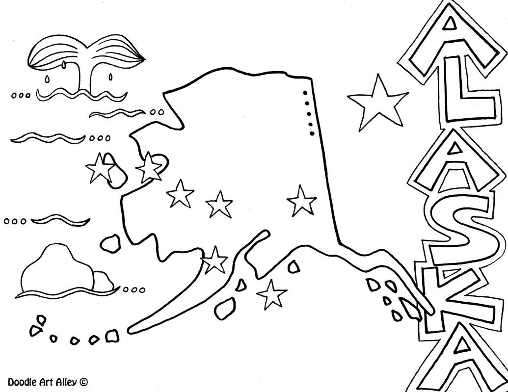 Alaska Coloring Page By Doodle Art Alley