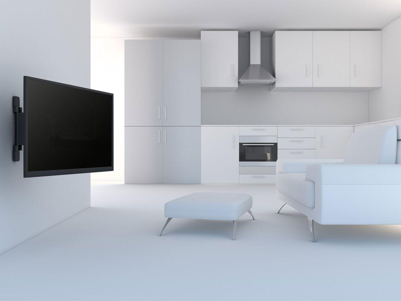 Machen Sie Es Sich Einfacher Und Nutzen Sie Unsere Elektrisch Schwenkbare TV  Wandhalterung Um Bildschirm Bis 55 Zoll Einfach Mit Der Fernbedienung Um 30  ...