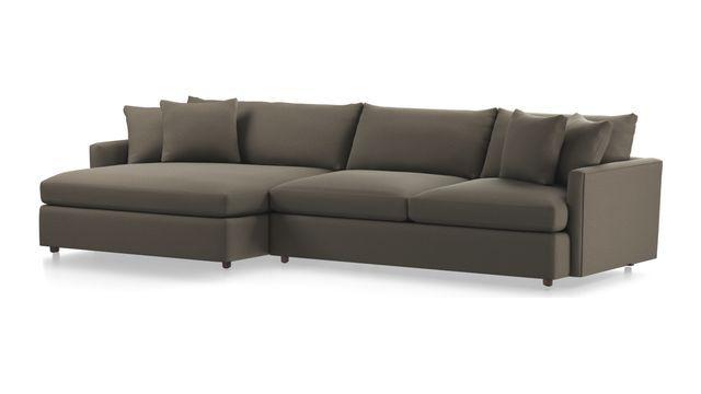 lounge ii 2 piece left arm double chaise sectional sofa home rh pinterest com