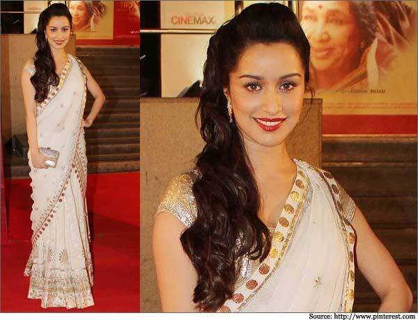 Shraddha Kapoor White Net Saree ShraddhaKapoor Whitesaree