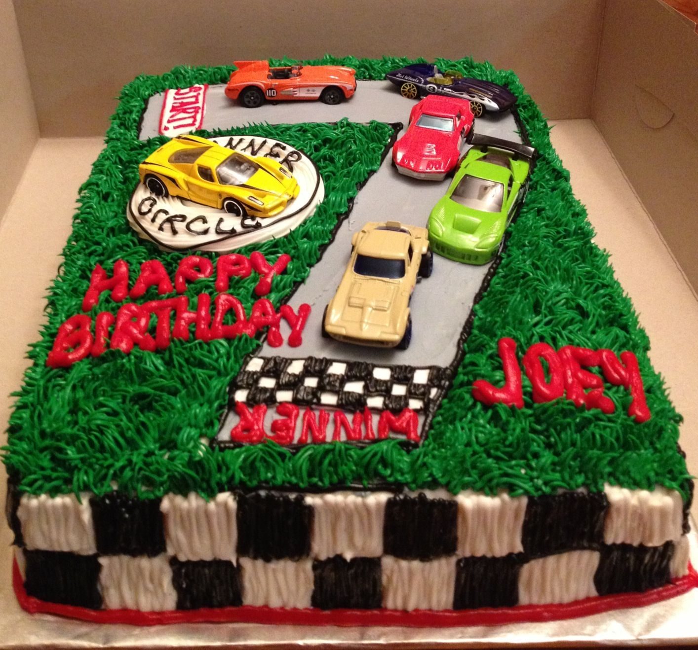 Astonishing Race Car Cake Cars Birthday Cake Cars Cake Design 7Th Birthday Funny Birthday Cards Online Elaedamsfinfo