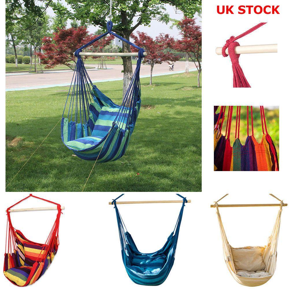 Hammock Chair Swing Seat Indoor Outdoor Garden Patio Yard Single