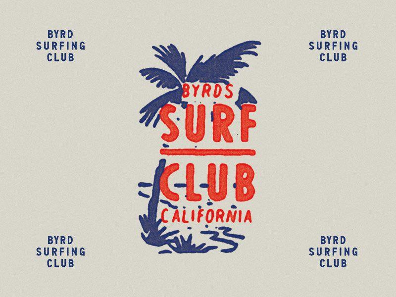 Byrd Surfing Club Surf Logo Surf Design Surfing