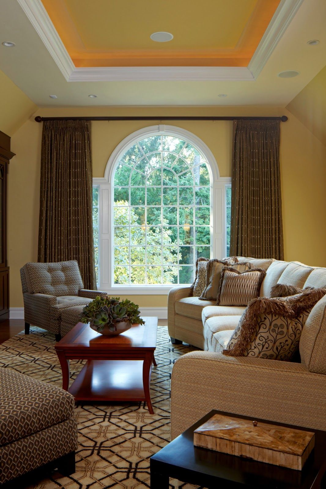 simple tailored window panels to frame an arched window divine rh pinterest com