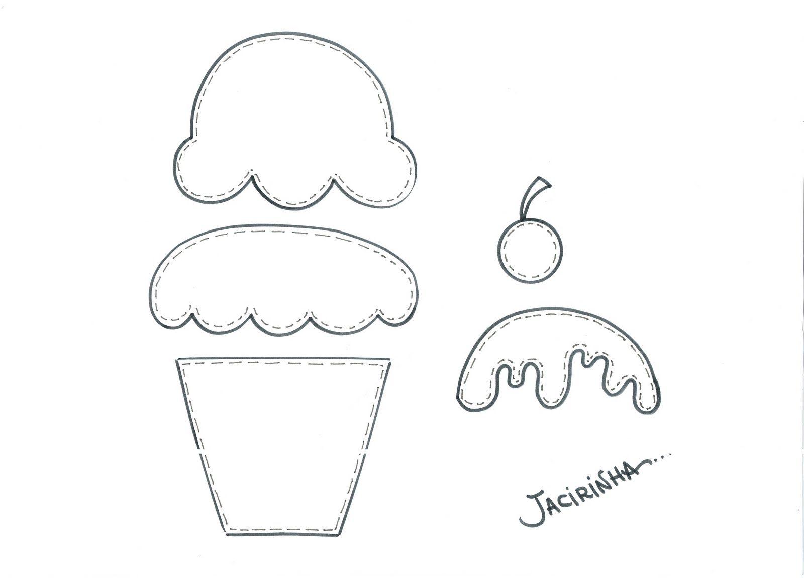 Oficina de Criatividade: Molde presente/Cupcakes | MOLDES FELTRO ...