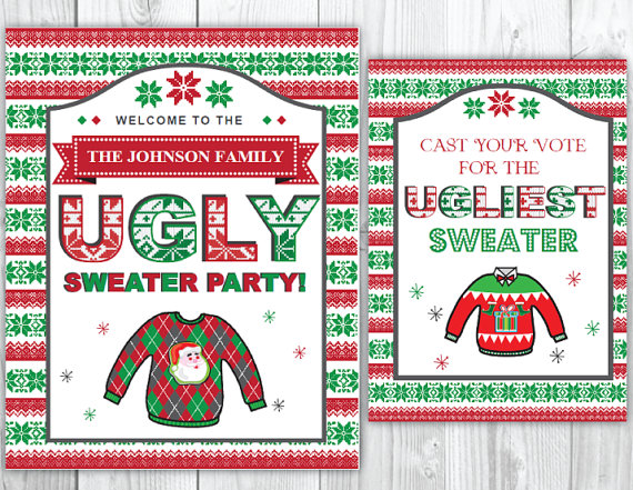 Pin on Ugly Sweater Christmas Party Ideas