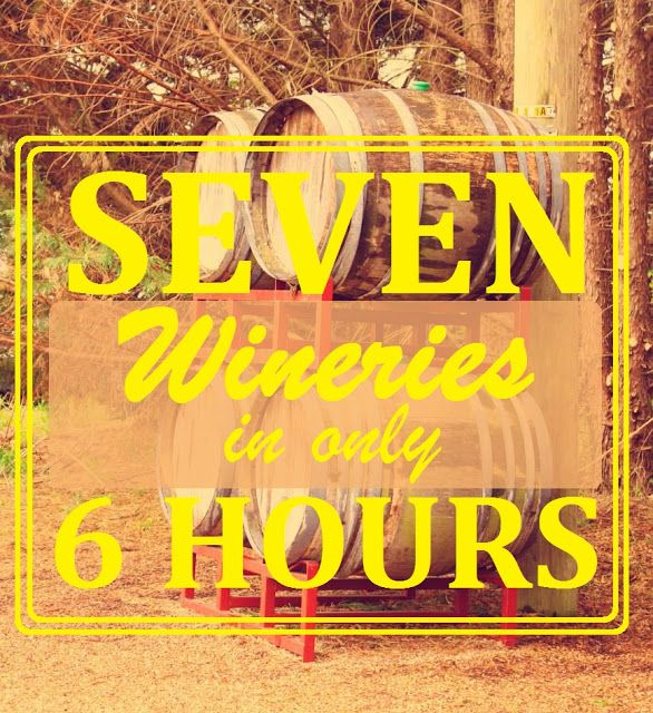 7 Wineries in 6 Hours