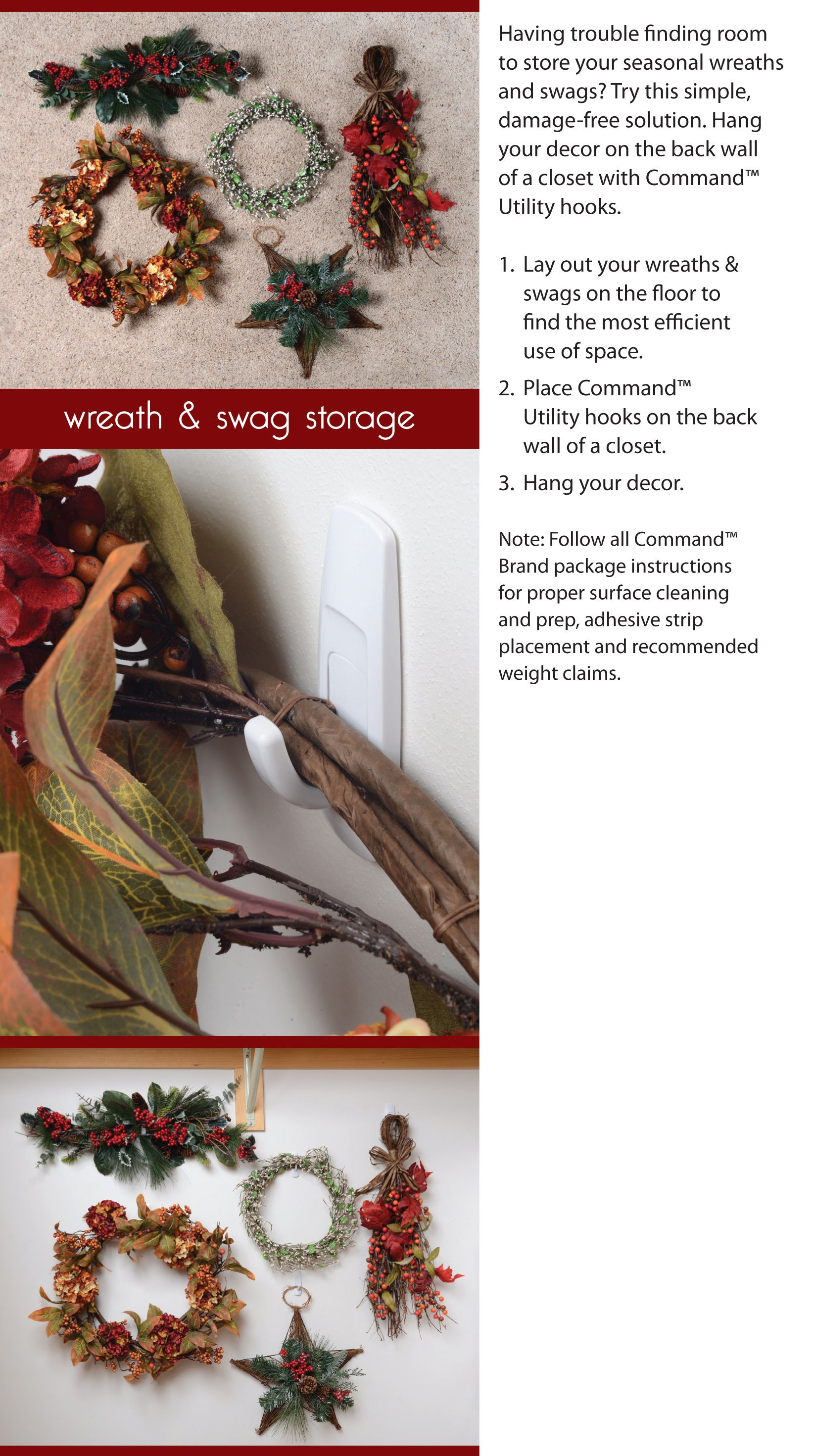 Having Trouble Finding Room To Store Your Seasonal Wreaths And