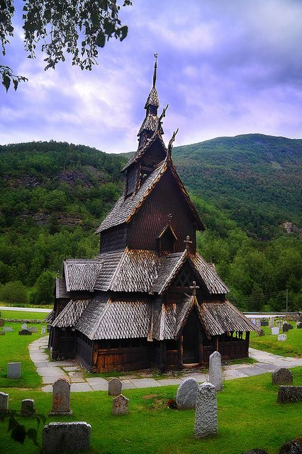 Borgund Stave Church, Lærdal, Norway Built by Vikings around 1181. Thee most beautiful building I've ever seen.