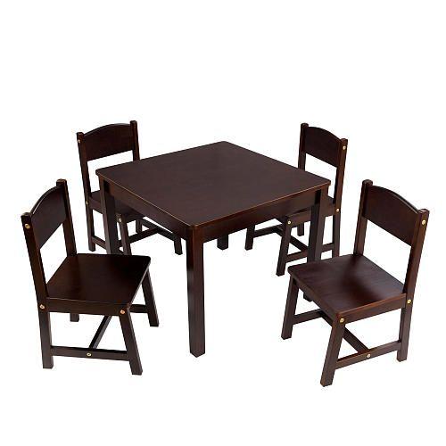 Kidkraft Farmhouse Table Amp Chair Set Espresso For
