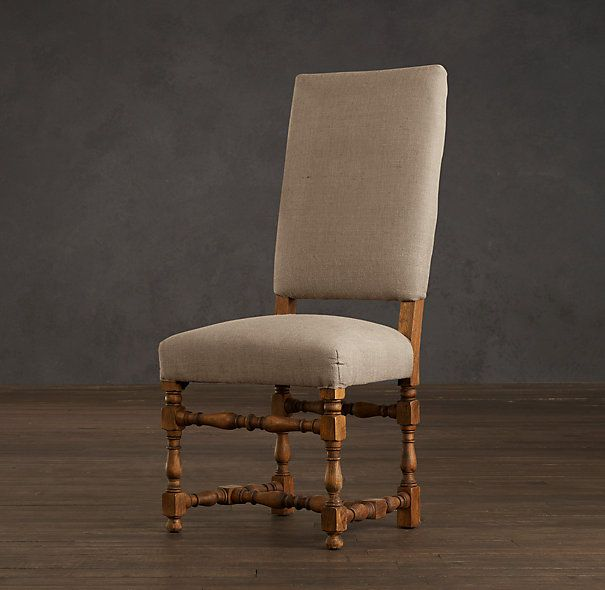 1890 english baroque upholstered side chair chairs restoration rh pinterest com